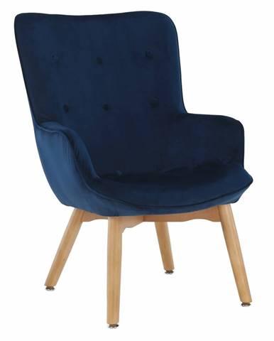Dizajnové kreslo modrá Velvet látka FODIL