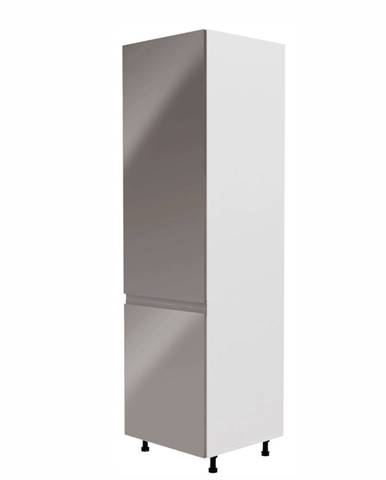 Potravinová skrinka biela/sivá extra vysoký lesk ľavá AURORA D60R