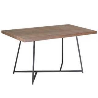 Jedálenský stôl tmavý orech/čierna SVARAN rozbalený tovar