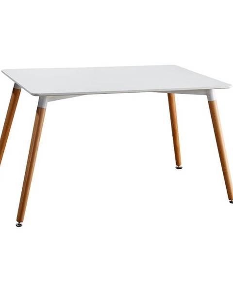 Tempo Kondela Jedálenský stôl biela/buk DIDIER 3 NEW poškodený tovar