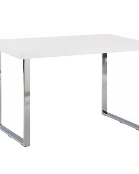 Kondela Jedálenský stôl biela HG/chróm TALOS poškodený tovar