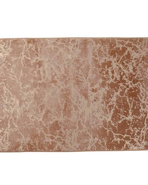 Tempo Kondela Moderný koberec béžová/zlatý vzor 140x200 RAKEL