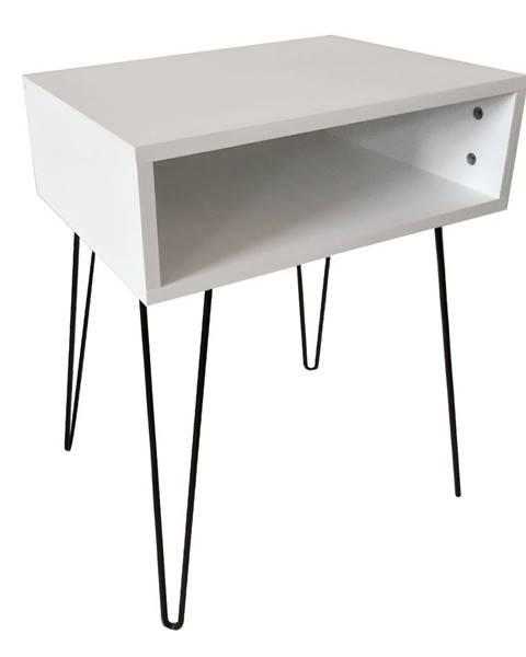 Tempo Kondela Príručný/nočný stolík biela/čierna HONEJ