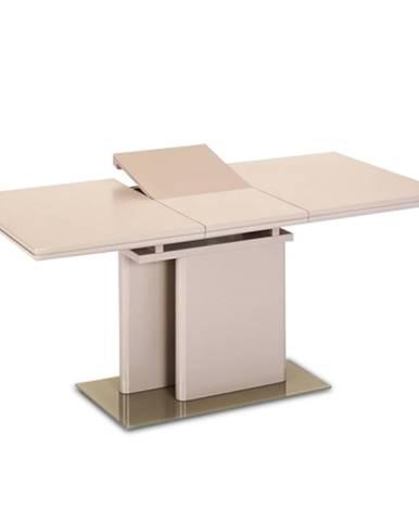 Jedálenský rozkladací stôl capuccino extra vysoký lesk VIRAT poškodený tovar