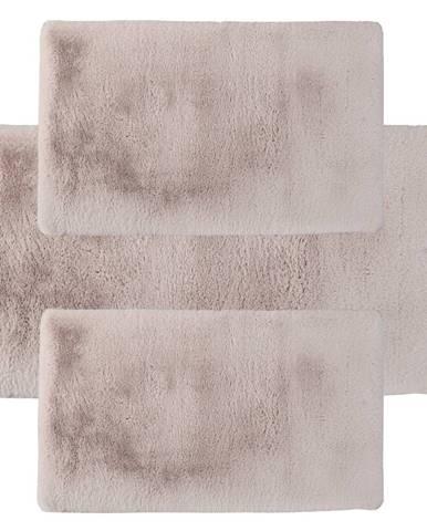 Spálňový set 3 ks luxusný shaggy koberec béžová KAMALA LUX TYP 2