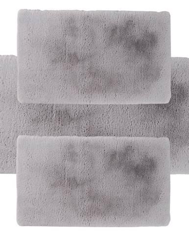 Spálňový set 3 ks luxusný shaggy koberec sivá KAMALA LUX TYP 3