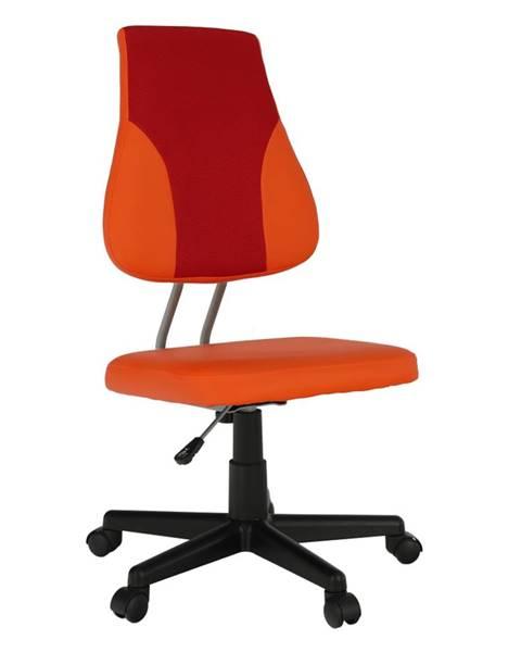 Tempo Kondela Otočná rastúca stolička oranžová/červená RANDAL poškodený tovar