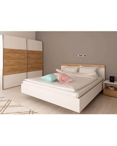 Spálňový komplet (posteľ 160x200 cm) biela/dub artisan GABRIELA