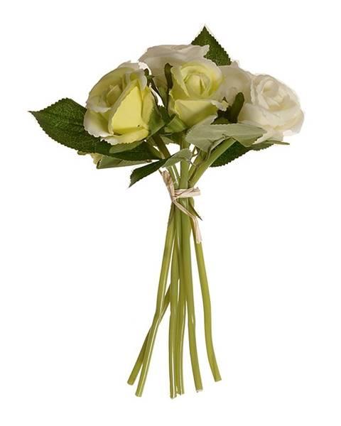 Valdinox Umelá kytica pukov ruže béžová, 22 cm