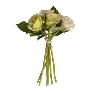 Umelá kytica pukov ruže béžová, 22 cm