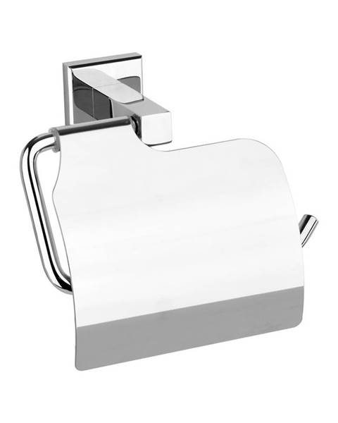 Plastia Fala Držiak toaletného papiera s krytom Quad Chrom, 14 x 10 x 7 cm