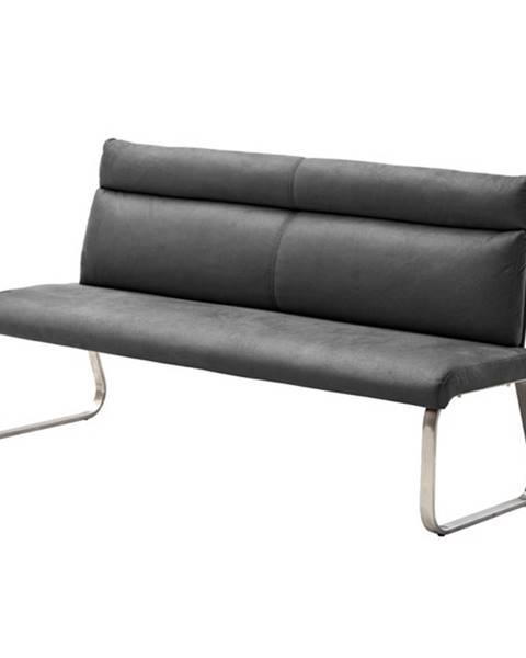 Sconto Jedálenská lavica RILEY 2 sivá