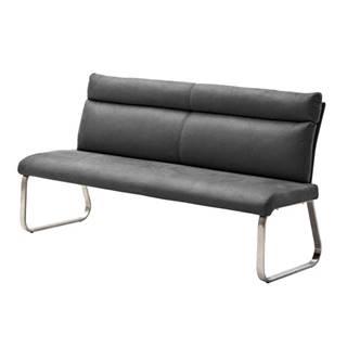 Jedálenská lavica RILEY 2 sivá