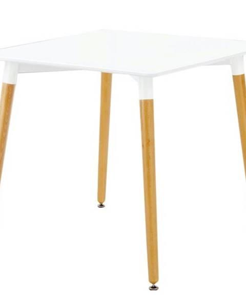 Sconto Jedálenský stôl HENRY biela/buk, 80 cm