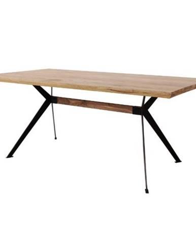 Jedálenský stôl YOGA NATUR prírodný palisander/čierna