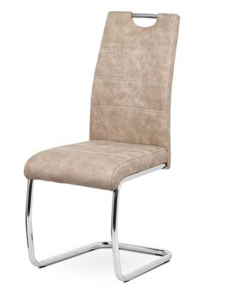 Sconto Jedálenská stolička ZOEY krémová/kov