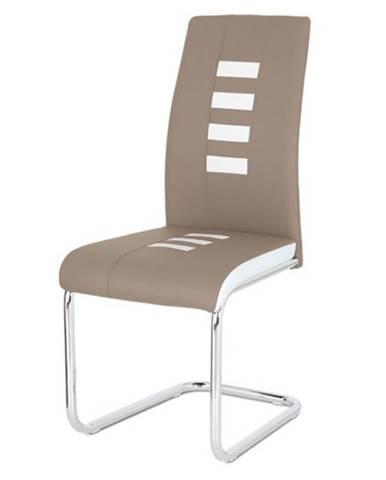 Jedálenská stolička ANASTASIA cappucino/biela