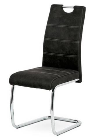 Jedálenská stolička GRAMA čierna/kov