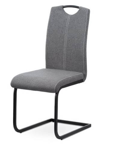 Jedálenská stolička SWAY sivá/čierny kov