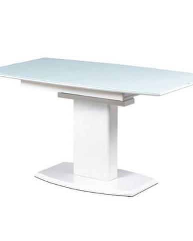 Jedálenský stôl s rozkladom MALAVA biela vysoký lesk