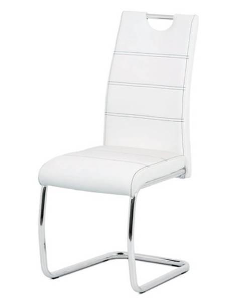 Sconto Jedálenská stolička GROTO biela/strieborná
