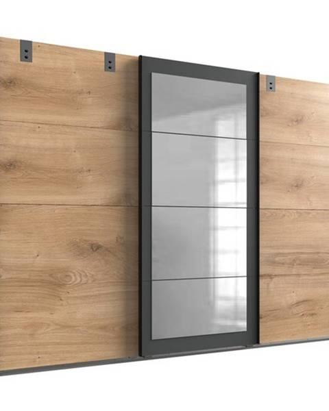 Sconto Šatníková skriňa MARION doskový dub/grafit, 270 cm, 1 zrkadlo
