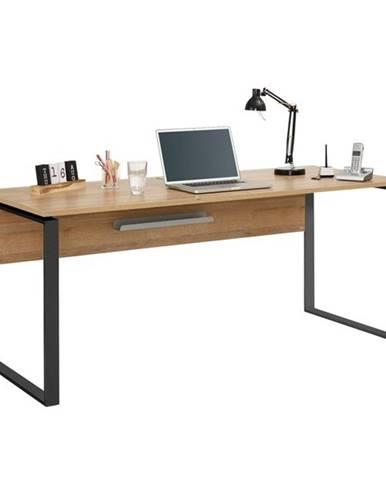 Písací stôl RYDER dub riviera/antracitová, 180x76 cm