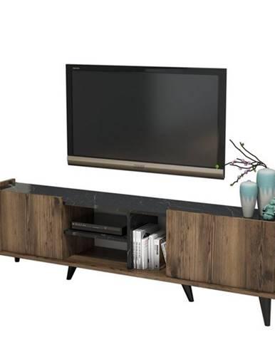 TV stolík ELEGANTE orech/čierna
