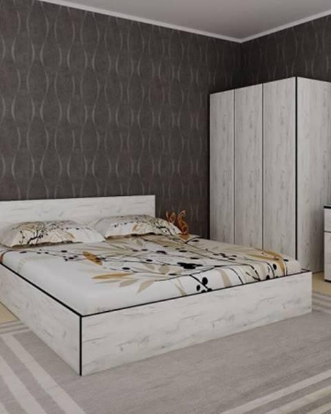 OKAY nábytok Spálňový program Tarja-rám postele,skriňa,komoda,2 nočné stolíky
