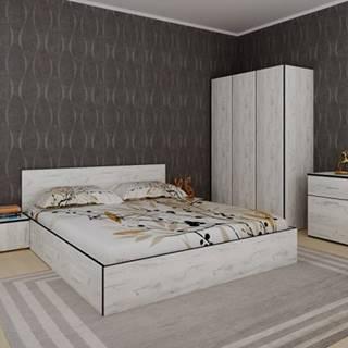 Spálňový program Tarja-rám postele,skriňa,komoda,2 nočné stolíky