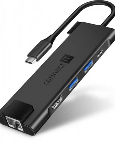 Hub Connect IT CHU-8020-AN Multi5in1, USB-C hub, 5v1, externý