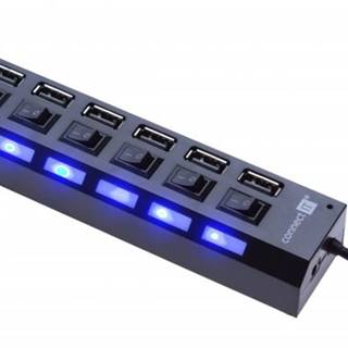 Connect IT USB hub Mighty switch, 7 ON/OFF portov