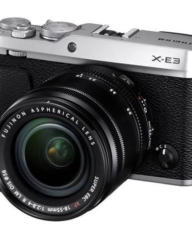 Digitálny fotoaparát Fujifilm X-E3 + XF18-55 mm strieborn