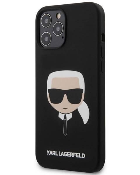 Karl Lagerfeld Kryt na mobil Karl Lagerfeld Head na Apple iPhone 12 Pro Max čierny