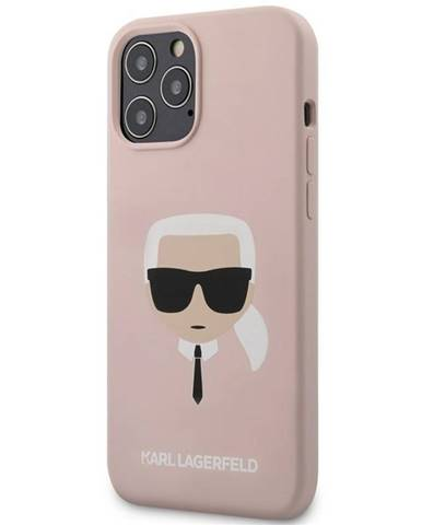 Kryt na mobil Karl Lagerfeld Head na Apple iPhone 12 Pro Max ružový