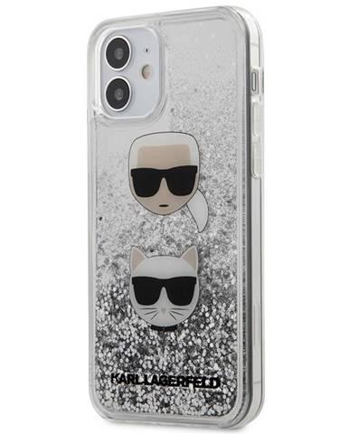 Kryt na mobil Karl Lagerfeld Liquid Glitter 2 Heads na Apple iPhone