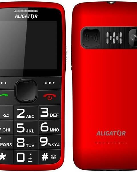 Aligator Mobilný telefón Aligator A675 Senior červený