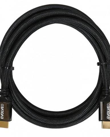 Kábel Evolveo Hdmi 2.1, 8K Ultra HD, 4K, 2K a FHD, 1m čierny