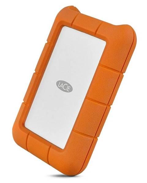 Lacie Externý pevný disk Lacie Rugged 5TB, USB-C oranžový