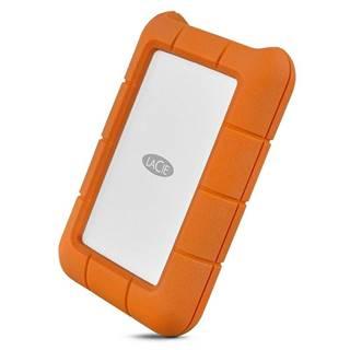 Externý pevný disk Lacie Rugged 5TB, USB-C oranžový
