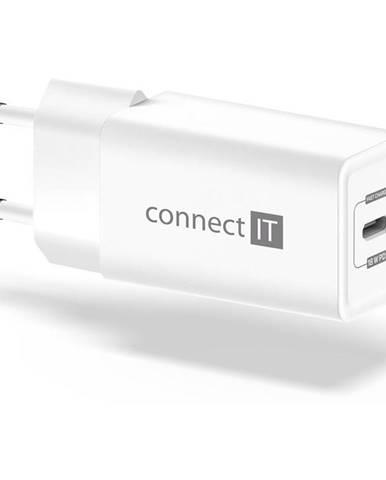 Nabíjačka do siete Connect IT 1x USB-C PD, 18W biela