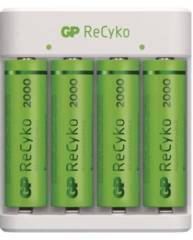 Nabíjačka GP Eco E411 + 4× AA ReCyko 2000