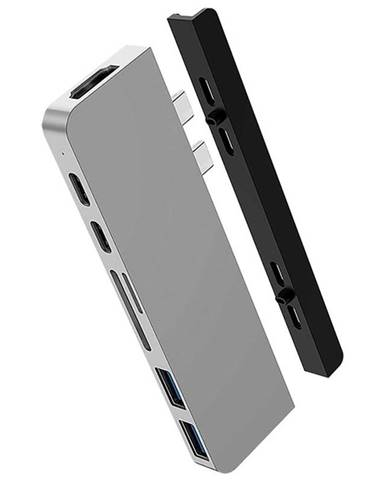 USB Hub HyperDrive DUO 7-in-2 Hub USB-C MacBook Pro strieborný