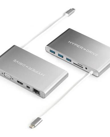 USB Hub HyperDrive Ultimate USB-C Hub strieborný