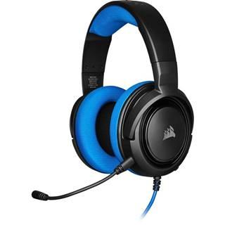Headset  Corsair HS35 čierny/modrý