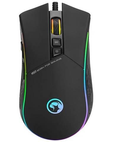 Myš  Marvo M513 čierna/strieborná