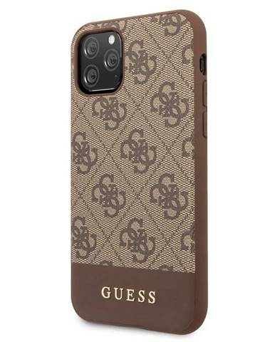 Kryt na mobil Guess 4G Stripe na iPhone 11 hnedý