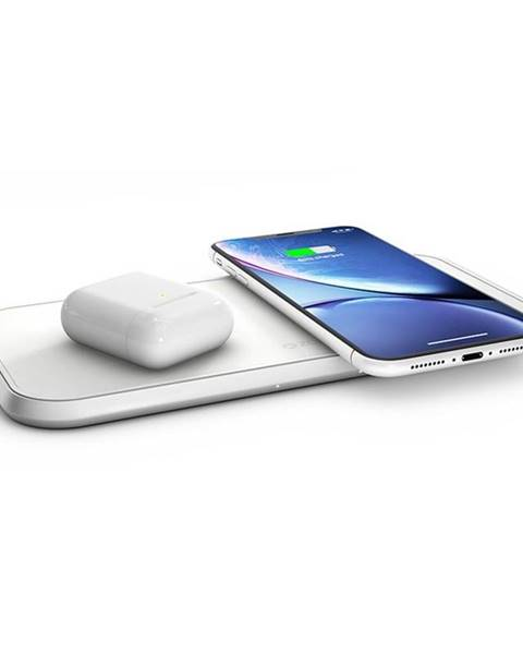 ZENS Bezdrôtová nabíjačka Zens Dual 10W biela
