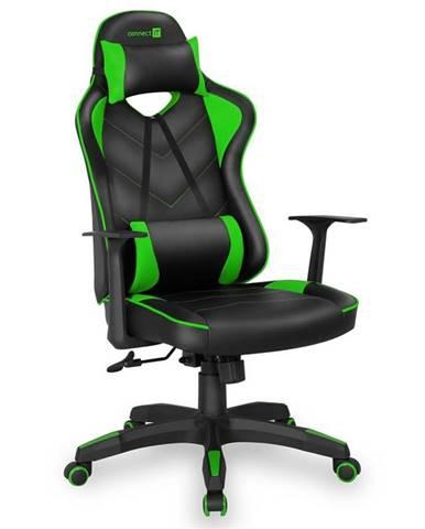 Herná stolička Connect IT LeMans Pro čierna/zelená