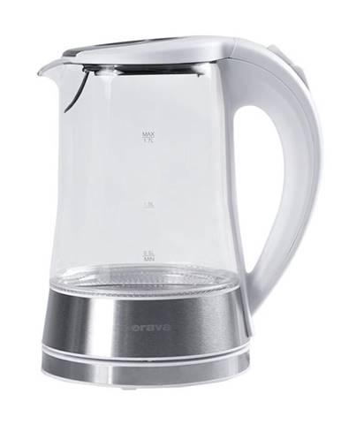 Rýchlovarná kanvica Orava VK-4017 W biela/sklo